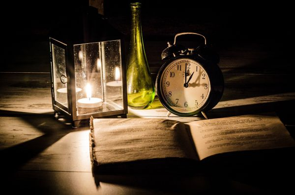 The Dangers Of Numerology - Book, Clock and Light