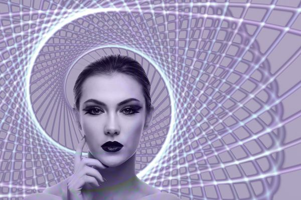 The Dangers Of Numerology - Woman With Spirals Behind