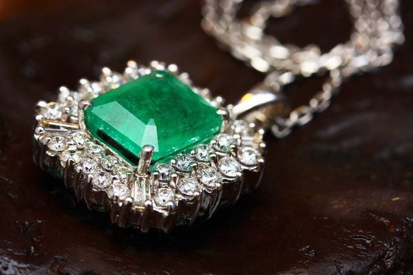 Gemstones And Their Meanings - Silver Coloured Pendant with Green Gemstone