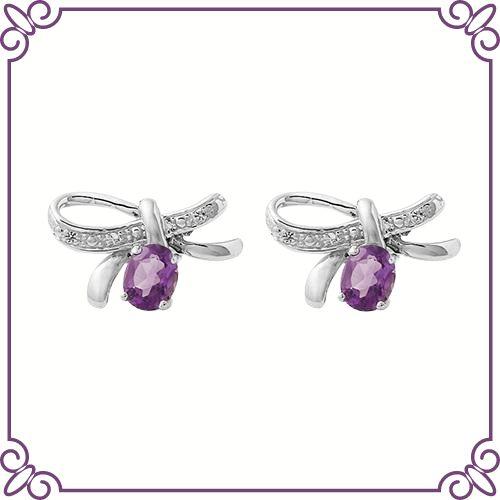 Amethyst Crystal Healing Properties - Amethyst Balance Earrings - jeoel