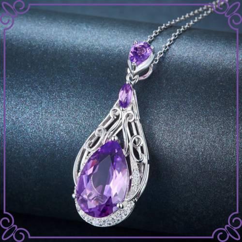 Amethyst Crystal Healing Properties - Amethyst Filigree Pendant - Lohaspie Jewelry