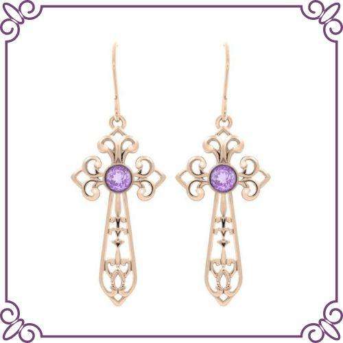 Amethyst Crystal Healing Properties - Amethyst Sagrada Earrings - jeoel