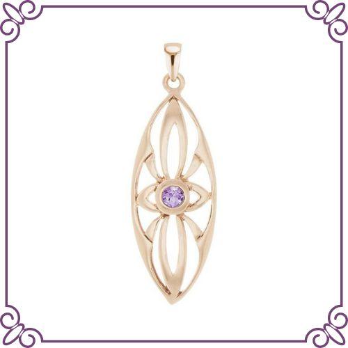 Amethyst Crystal Healing Properties - Tully Pendant - jeoel