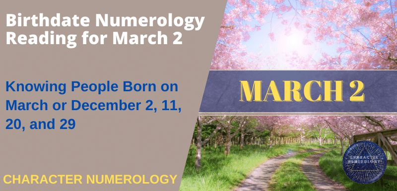 Birthdate Numerology Reading for March 2