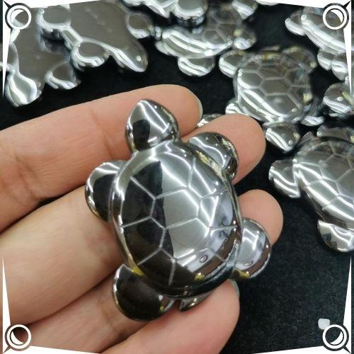 Hematite Healing Properties - Hematite Crystal Stone Turtle Pendant - CGBeadesSupplies