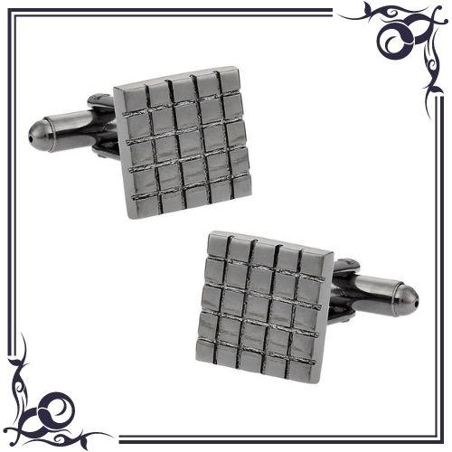 Hematite Healing Properties - Hematite Grids Cufflinks - CuffDaddyStore
