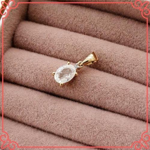 Goshenite Gemstone Meaning - Vintage 10ct Gold, White Beryl Pendant. Vintage Jewellery. Natural Gemstone - 3