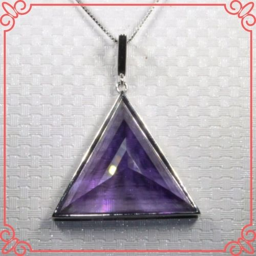 Amethyst Crystal Healing Properties - CoLife Jewelry Natural VVS Grade Amethyst Pendant for Office Woman Triangle Pendant-1