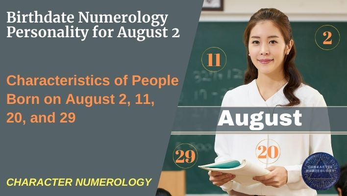 Birthdate Numerology Personality for August 2